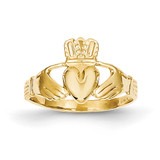 Claddagh Ring 14k Gold Polished A9519