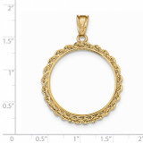 Handmade Rope Polished Prong 1/2AE Coin Bezel 14k Gold BA1/2AE