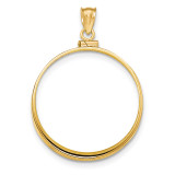 Screw Top 1AE Coin Bezel 14k Gold Polished BA10/1AE