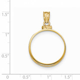 Screw Top 1/4AE Coin Bezel 14k Gold Polished BA10/4AE
