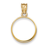 Prong 1/10AE Coin Bezel 14k Gold Polished BA50/10AE