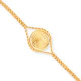 1/10oz American Eagle Plain Bezel Rope Bracelet Mounting 14k Gold BA62/10AE