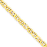 4.1mm Semi-Solid Anchor Chain 24 Inch 14k Gold BC100-24