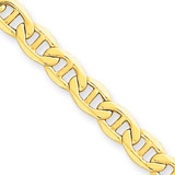 5.1mm Semi-Solid Anchor Chain 24 Inch 14k Gold BC101-24
