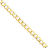 6.0mm Semi-Solid Curb Link Chain 7 Inch 14k Gold BC109-7