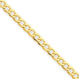 2.5mm Semi-Solid Curb Link Chain 10 Inch 14k Gold BC124-10