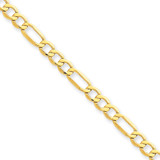 4.75mm Semi-Solid Figaro Chain 7 Inch 14k Gold BC94-7