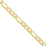 5.35mm Semi-Solid Figaro Chain 7 Inch 14k Gold BC95-7