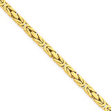 3.25mm Byzantine Chain 24 Inch 14k Gold BIZ090-24