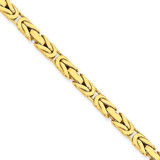 4mm Byzantine Chain 24 Inch 14k Gold BIZ110-24