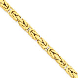 5.25mm Byzantine Chain 24 Inch 14k Gold BIZ150-24