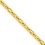 6.50mm Byzantine Chain 20 Inch 14k Gold BIZ180-20