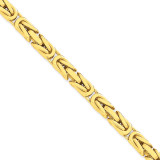 6.50mm Byzantine Chain 24 Inch 14k Gold BIZ180-24