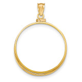 Screw Top 1P Coin Bezel 14k Gold Polished BP10/1P