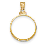Screw Top 1/4P Coin Bezel 14k Gold Polished BP10/4P