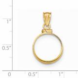 Screw Top 1/20P Coin Bezel 14k Gold Diamond-cut BP11/20P