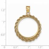 Hand Made Rope Diamond-cut Prong 1/4P Coin Bezel 14k Gold BP46/4P