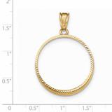 Prong 1/2P Coin Bezel 14k Gold Diamond-cut BP47/2P