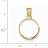 Prong 1/10P Coin Bezel 14k Gold Polished BP50/10P