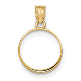 Prong 1/10P Bezel with coin 14k Gold Polished BP50/10PC