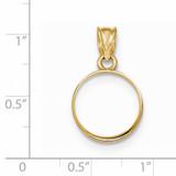 Prong 1/20P Coin Bezel 14k Gold Polished BP50/20P