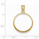 Prong 1/4P Coin Bezel 14k Gold Polished BP50/4P