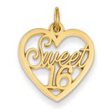Sweet 16 Charm 14k Gold C1001