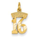 Sweet 16 Charm 14k Gold C1004