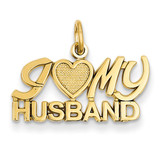I (Heart) My Husband Charm 14k Gold C1038
