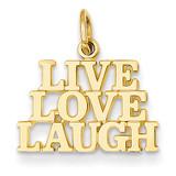 Talking - Live Love Laugh Charm 14k Gold C1062