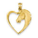 Horse Pendant 14k Gold C107
