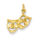 Comedy Tragedy Charm 14k Gold C1088
