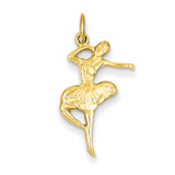 Ballet Dancer Charm 14k Gold C1089