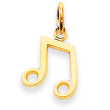 Musical Note Charm 14k Gold C1094