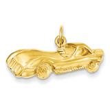Sports Car Charm 14k Gold C1106