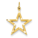 Star Charm 14k Gold Diamond-cut C1115