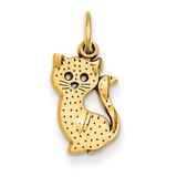 Kitty Cat Charm 14k Gold C1132