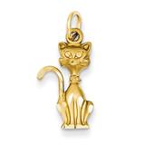 Tom Cat Charm 14k Gold C1133