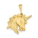 Unicorn Head Charm 14k Gold C1149