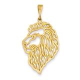 Filigree Lions Head Pendant 14k Gold C1157