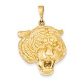Tigers Head Pendant 14k Gold C1158