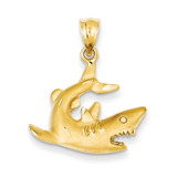 Shark Pendant 14k Gold C116