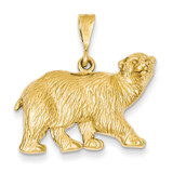 Polar Bear Charm 14k Gold C1164