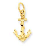 Anchor Charm 14k Gold C1170