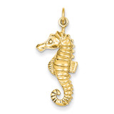 Seahorse Charm 14k Gold C1187