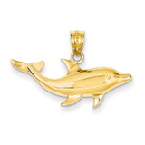 Dolphin Pendant 14k Gold C119