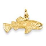 Fish Charm 14k Gold C1192