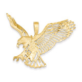 Large Eagle Charm 14k Gold C1216