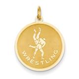Wrestling Charm 14k Gold C1240