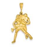 Wrestling Charm 14k Gold C1241